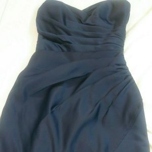 Beautiful Navy Sweetheart Bridesmaids Dress
